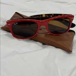 Ray Ban Red Tortoise Sunglasses